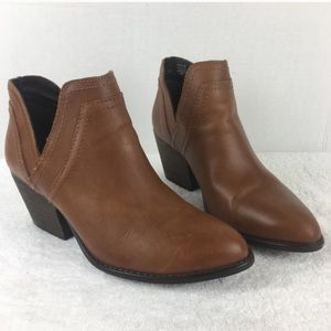 STEVE MADDEN leather Ailee brown booties